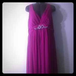 Sheer halter dress with lining